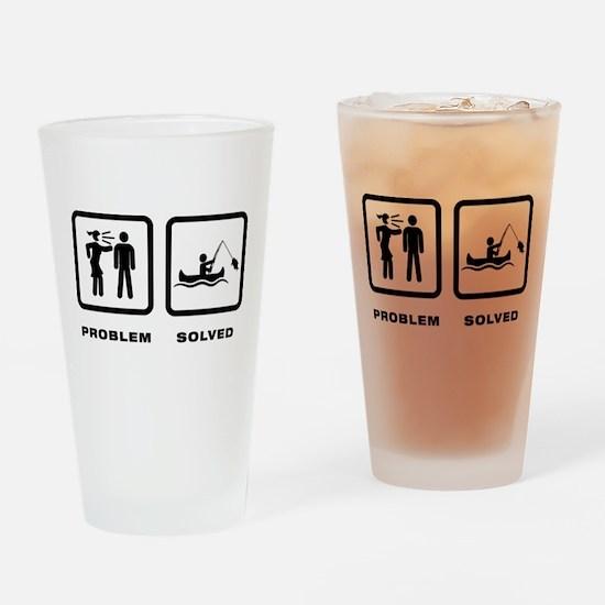 Canoe Fishing Drinking Glass