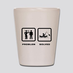 Canoe Fishing Shot Glass