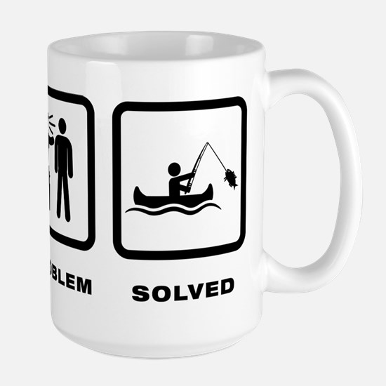 Canoe Fishing Large Mug