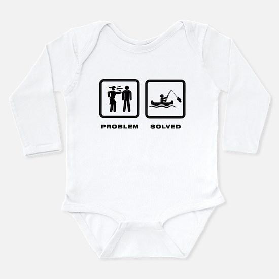 Canoe Fishing Long Sleeve Infant Bodysuit