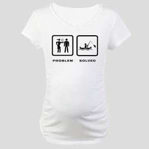 Canoe Fishing Maternity T-Shirt