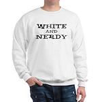 White And Nerdy Sweatshirt