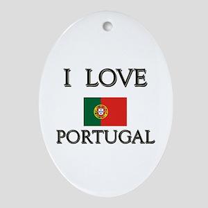 I Love Portugal Oval Ornament