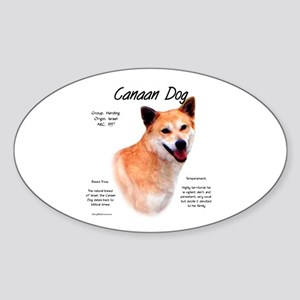 Canaan Dog Oval Sticker