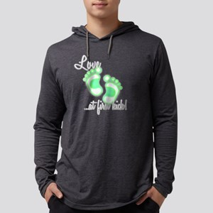 lovekick green-white Mens Hooded Shirt