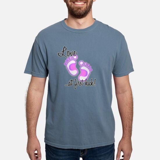 lovekick purple-black.pn Mens Comfort Colors Shirt