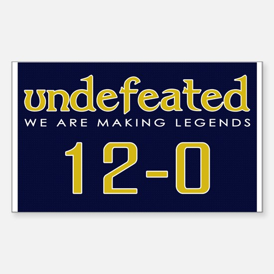 Undefeated - Blue/Gold Sticker (Rectangle)