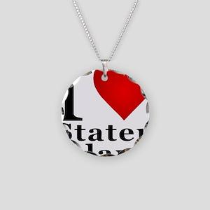 ilovestatenisland Necklace Circle Charm