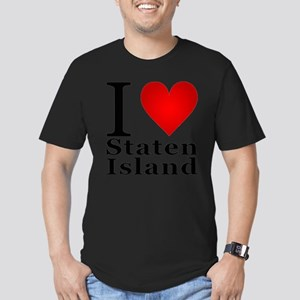 ilovestatenisland Men's Fitted T-Shirt (dark)