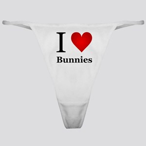 I Love Bunnies Classic Thong