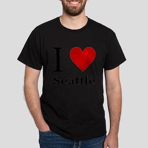 I Love Seattle Dark T-Shirt