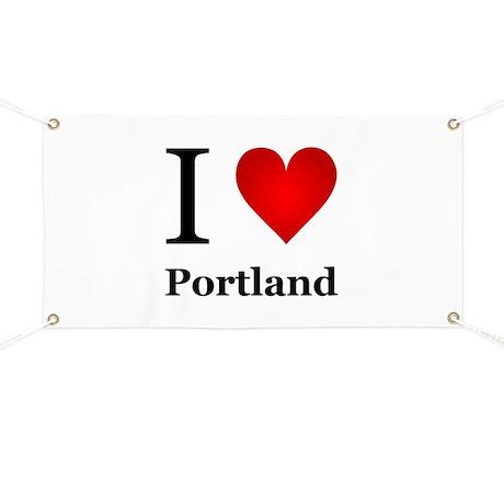 I Love Portland Banner