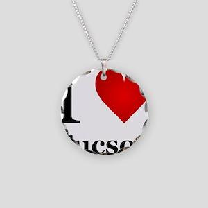 I Love Tucson Necklace Circle Charm