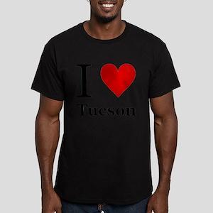 I Love Tucson Men's Fitted T-Shirt (dark)