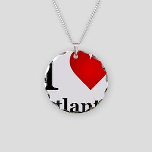 I Love Atlanta Necklace Circle Charm
