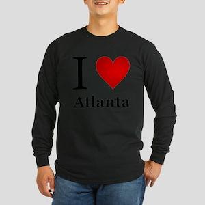 I Love Atlanta Long Sleeve Dark T-Shirt