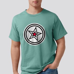 WHITE/RED BRAND STAR Mens Comfort Colors Shirt