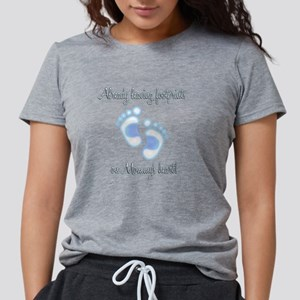 footprints-blue-white Womens Tri-blend T-Shirt