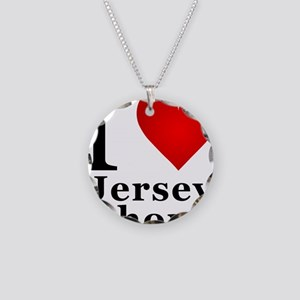 I Love Jersey Shore Necklace Circle Charm