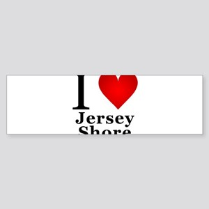 I Love Jersey Shore Sticker (Bumper)