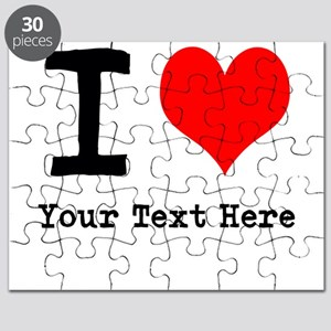 I Heart (personalized) Puzzle