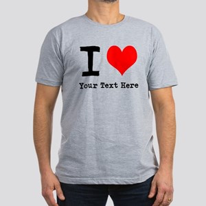I Heart (personalized) Men's Fitted T-Shirt (dark)