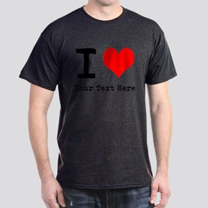 I Heart (personalized) Dark T-Shirt