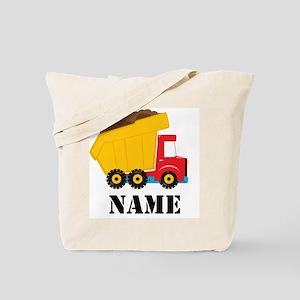Personalized Dump Truck Tote Bag
