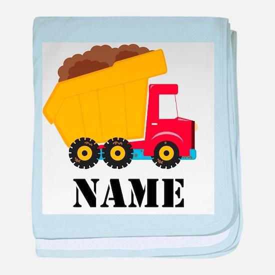 Personalized Dump Truck baby blanket