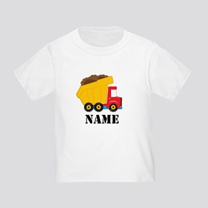 Personalized Dump Truck Toddler T-Shirt