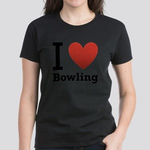 i-love-bowling-light-tee Women's Dark T-Shirt