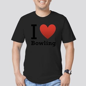 i-love-bowling-light-tee Men's Fitted T-Shirt