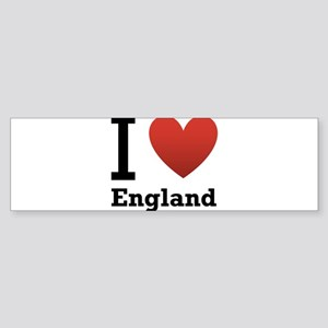 i-love-england-light-tee Sticker (Bumper)