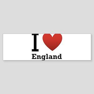 i-love-england-light-tee Sticker (Bumper)