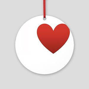 i-love-antartica-dark-tee Ornament (Round)
