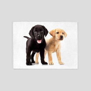 Labrador Siblings 5'x7'Area Rug