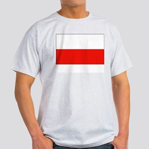 Poland Flag Picture Ash Grey T-Shirt
