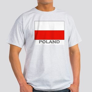 Poland Flag Stuff Ash Grey T-Shirt