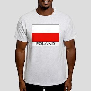 Poland Flag Stuff Ash Grey T-Shirt