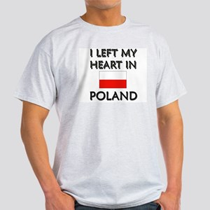 I Left My Heart In Poland Ash Grey T-Shirt