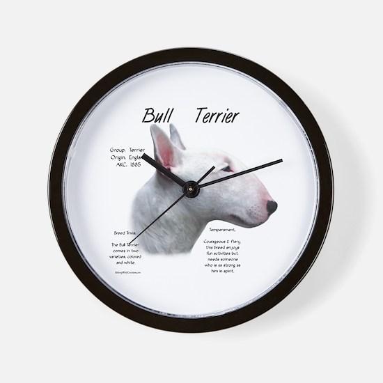 Bull Terrier (white) Wall Clock