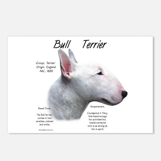 Bull Terrier (white) Postcards (Package of 8)