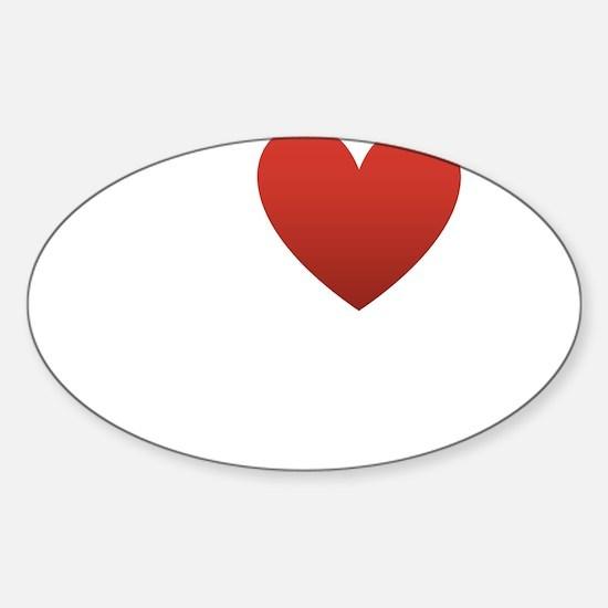 i-love-my-husband.png Sticker (Oval)