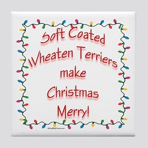 Merry Wheaten Tile Coaster
