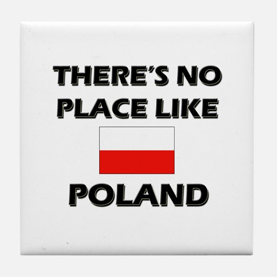 There Is No Place Like Poland Tile Coaster