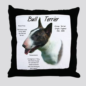 Bull Terrier (colored) Throw Pillow