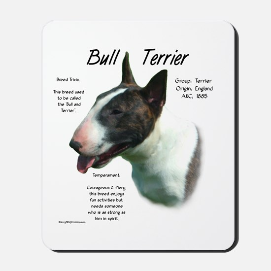 Bull Terrier (colored) Mousepad