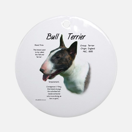 Bull Terrier (colored) Round Ornament