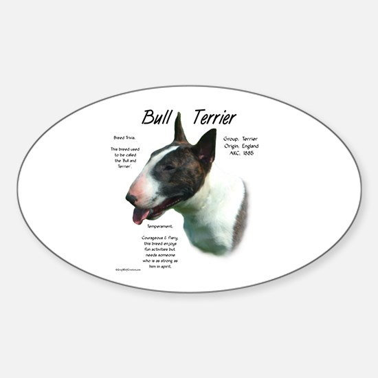 Bull Terrier (colored) Sticker (Oval)