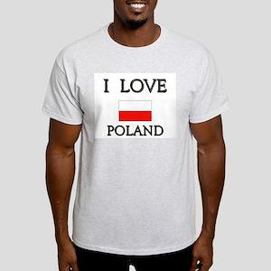 I Love Poland Ash Grey T-Shirt